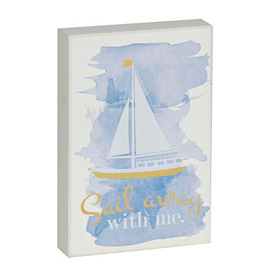 Sail Away with Me Wooden Plaque