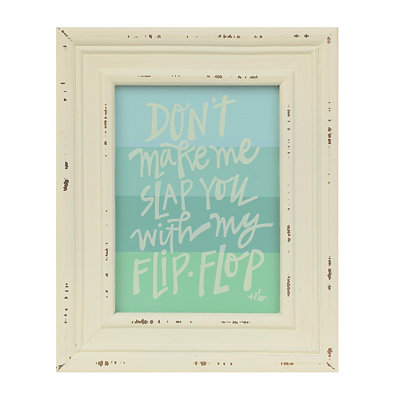 Slap You with My Flip Flop Framed Art Print