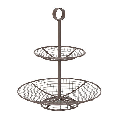 Two-Tier Wire Centerpiece Serving Tray