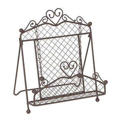 Cast Iron Cookbook Stand with Weights
