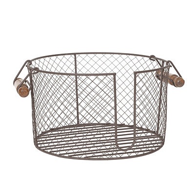 Wire Plate Caddy with Handles