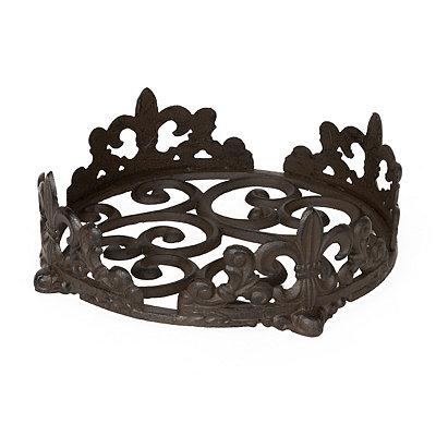 Cast Iron Fleur-de-lis Plate Holder