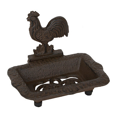 Cast Iron Rooster Soap Dish