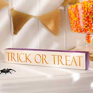 Trick or Treat Word Block