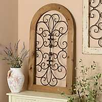 Cosette Natural Honey Arch Plaque