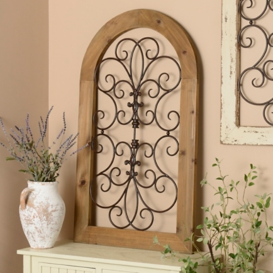 Metal Wall Plaque natural arch wood and metal wall plaque | kirklands