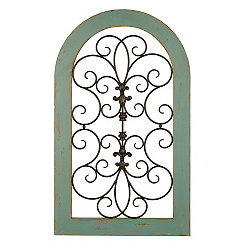 Cosette Distressed Turquoise Arch Plaque