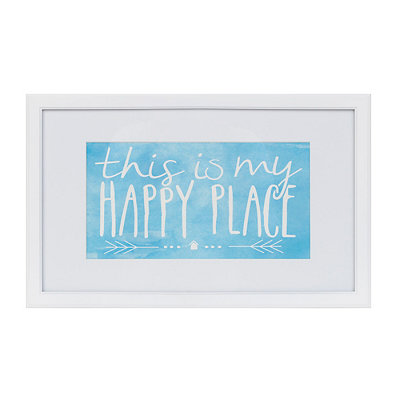 My Happy Place Framed Art Print
