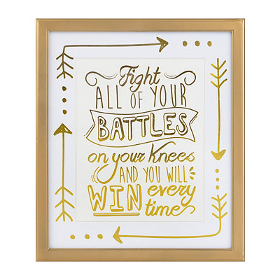 Fight Your Battles Framed Art Print