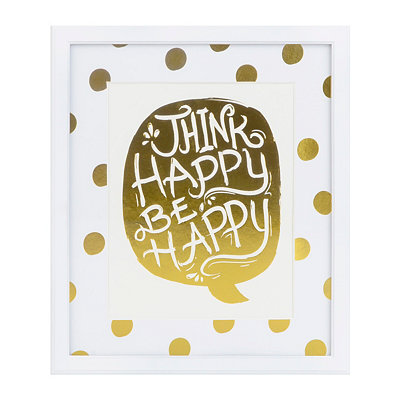 Think Happy Framed Art Print