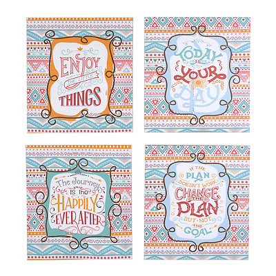 Colorful Inspirational Canvas Plaques