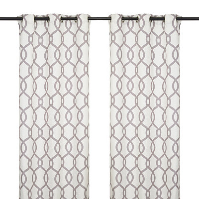 Kochi Black Pearl Curtain Panel Set, 96 in.