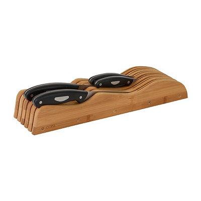 In-Drawer Bamboo Knife Block