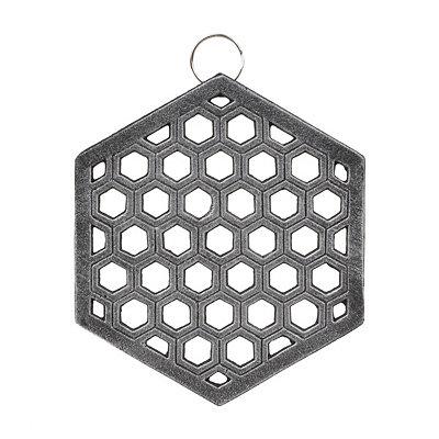 Silver Honeycomb Iron Trivet