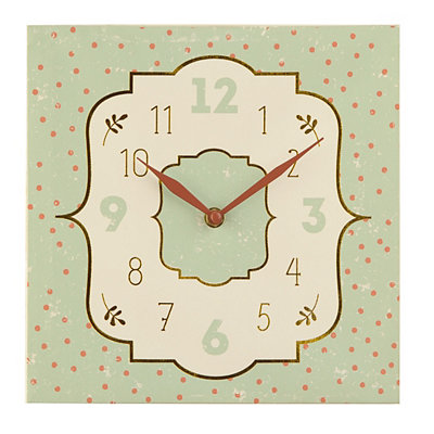 Metallic Dots Canvas Clock
