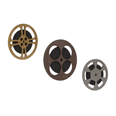 Movie Reel Wooden Plaques, Set of 3