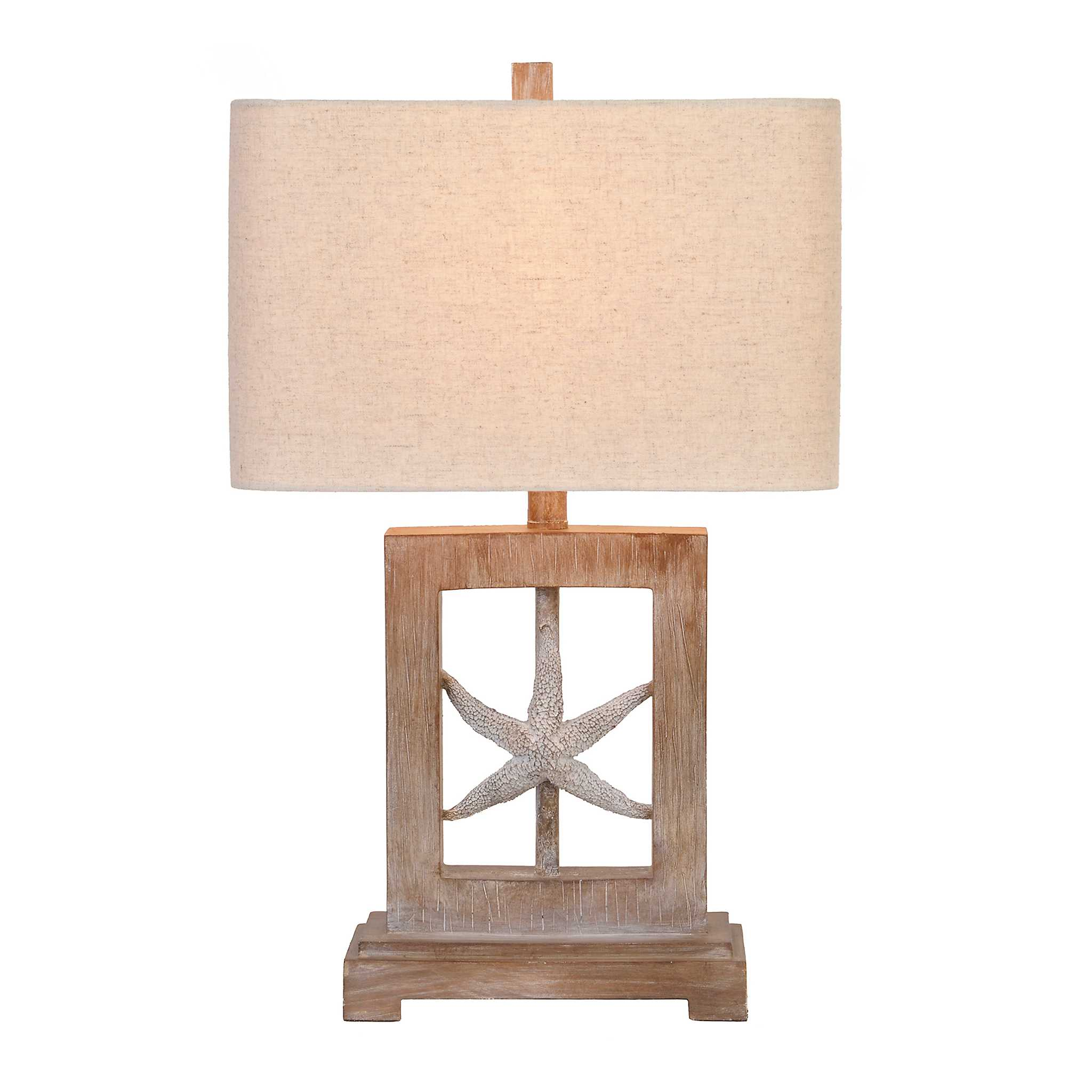Framed Starfish Table Lamp