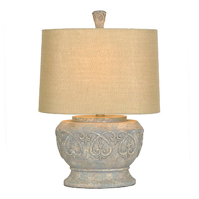 Stone Scroll Table Lamp