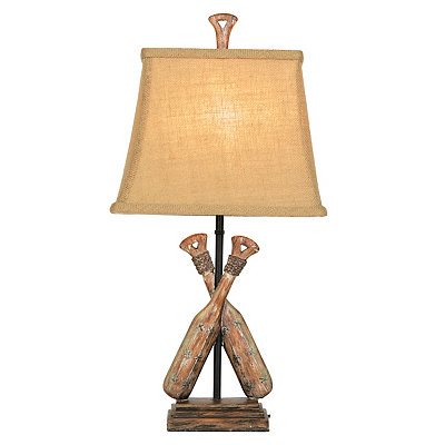 Double Oar Table Lamp
