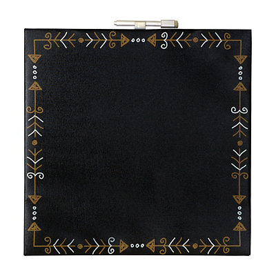 Black and Gold Arrows Dry Erase Canvas