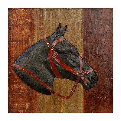 Bridled Horse Canvas Art