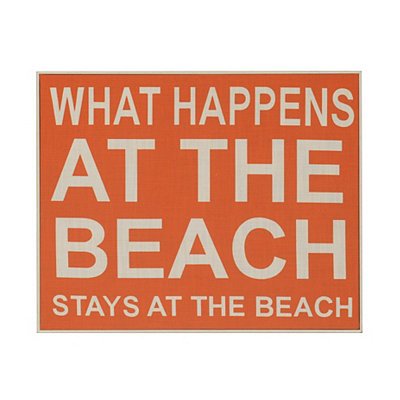 What Happens at the Beach Plaque