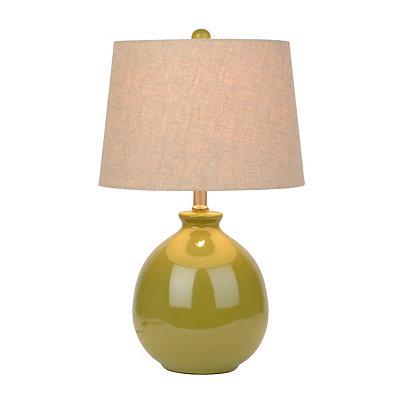 Avocado Ceramic Table Lamp