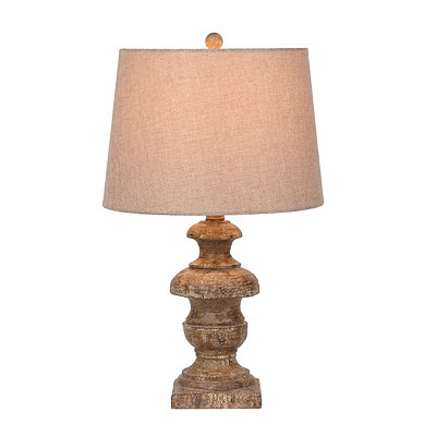 Brown Distressed Urn Table Lamp