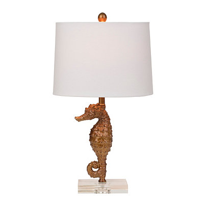 Gold Seahorse Table Lamp