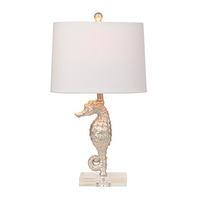 Silver Seahorse Table Lamp
