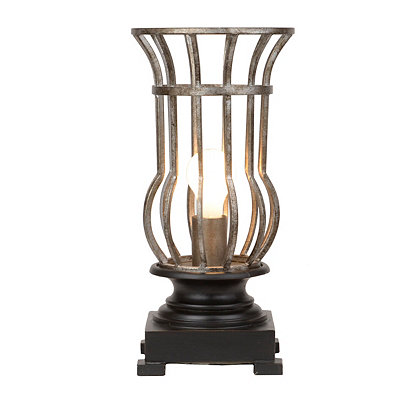 Oil-Rubbed Bronze Cage Uplight