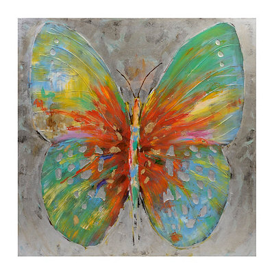 Tenley Butterfly Framed Canvas Art Print