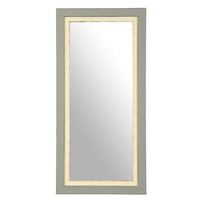 Vintage Blue Framed Mirror, 13x27