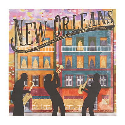 New Orleans Musicians Canvas Art Print