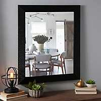 Tortoise Diamond Weave Framed Mirror