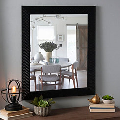 Tortoise Diamond Weave Framed Mirror, 28x34 in.