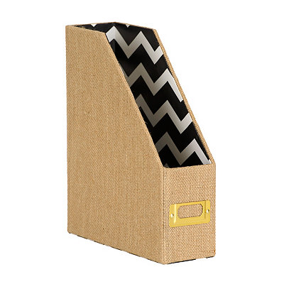 Burlap and Chevron Magazine File