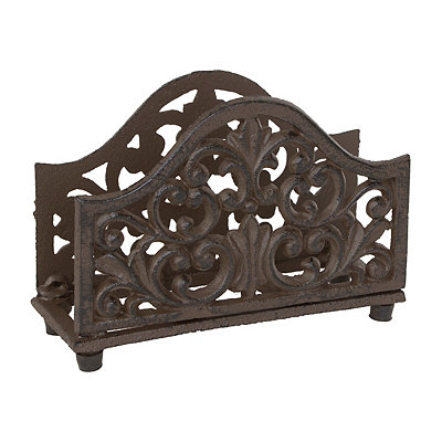 Scrolled Cast Iron Napkin Holder