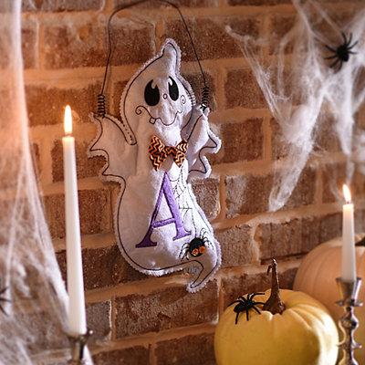 Spooky Ghost Monogram A Wall Hanger
