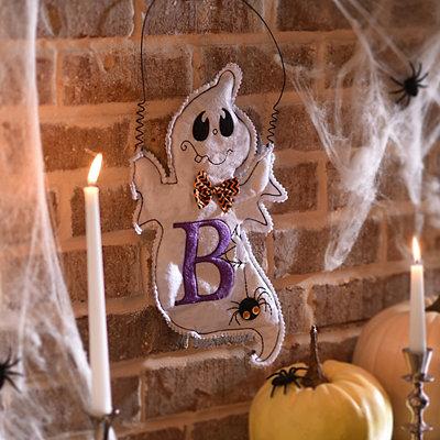 Spooky Ghost Monogram B Wall Hanger
