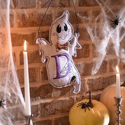 Spooky Ghost Monogram D Wall Hanger