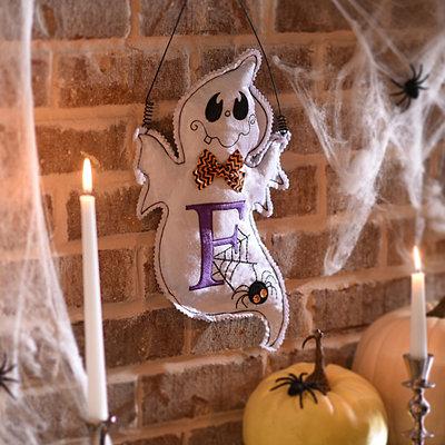 Spooky Ghost Monogram F Wall Hanger