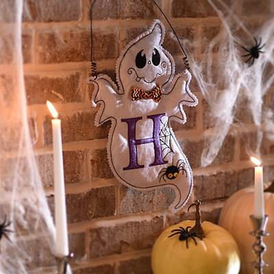 Spooky Ghost Monogram H Wall Hanger