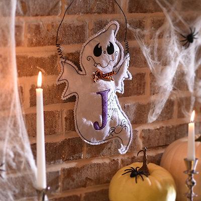 Spooky Ghost Monogram J Wall Hanger