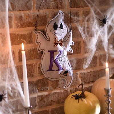 Spooky Ghost Monogram K Wall Hanger