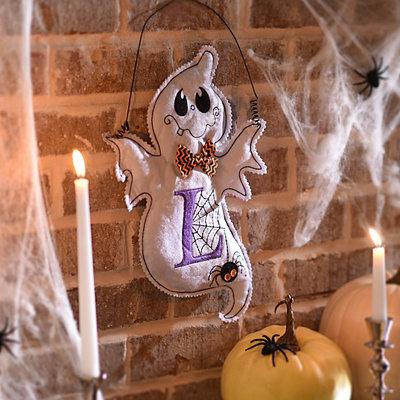 Spooky Ghost Monogram L Wall Hanger