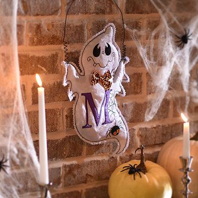 Spooky Ghost Monogram M Wall Hanger
