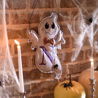 Spooky Ghost Monogram N Wall Hanger