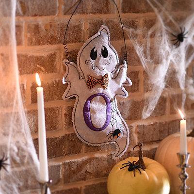 Spooky Ghost Monogram O Wall Hanger