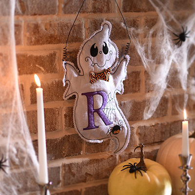 Spooky Ghost Monogram R Wall Hanger